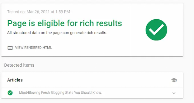 Rich Results Test of Techazu's page