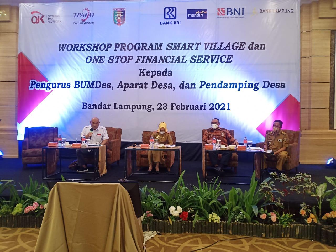 Sinergi OJK, PemprovdanLembagaJasaKeuangan Wujudkan One Village One Agent di Provinsi Lampung