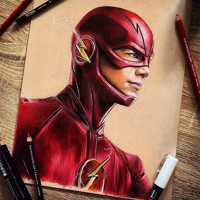 01-The-Flash-Chris-Pencil-Drawings-www-designstack-co