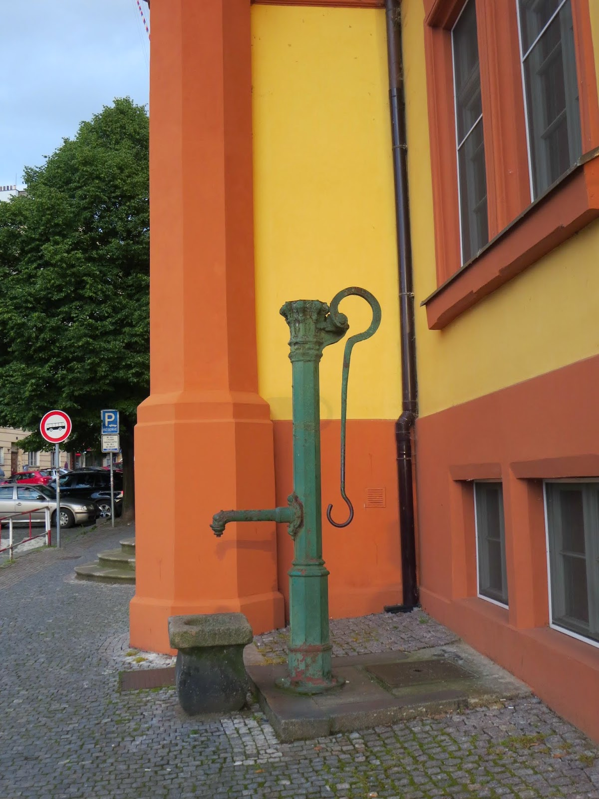 Old water pump in Prague