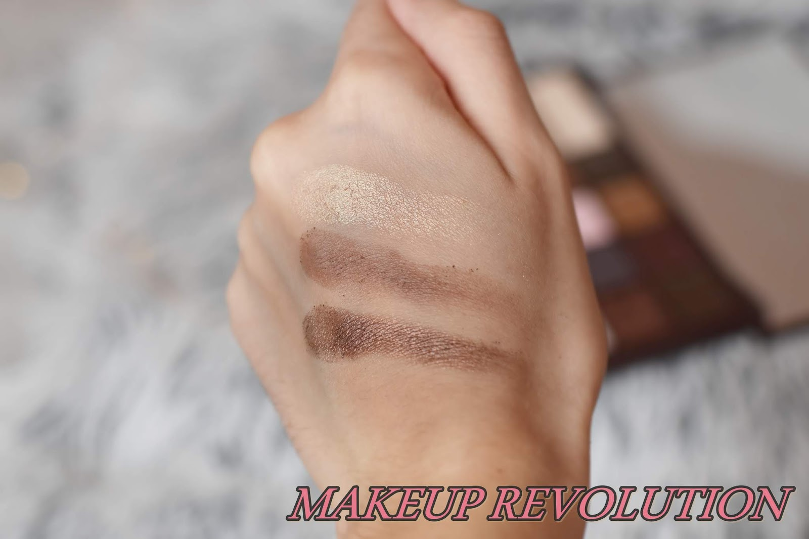 makeup revoution i heart chocolate swatches