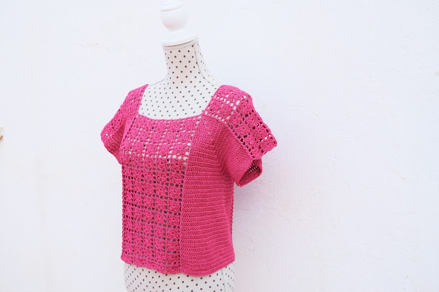 5 - Crochet Imagen Blusa veraniega a crochet y ganchillo por Majovel Crochet
