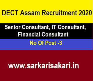 DECT Assam Recruitment 2020 - Apply For Consultant Post