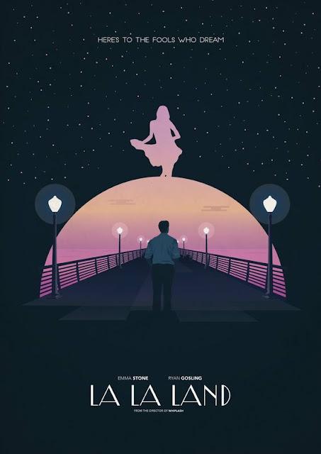 La La Land Art Deco Style Movie Poster
