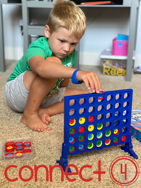 Composing and decomposing numbers with Connect 4 game
