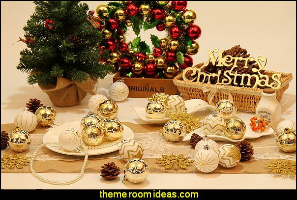 Glittering Christmas Tree Pendants Decorative Hanging Christmas Baubles Balls