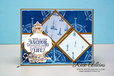Sailing Home Stamp Set, Come Sail Away Designer Series Paper, The Spot Sketch Challenge 105, Rick Adkins, Stampin' Up!