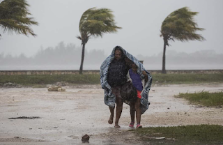Survivors of Irma beg for aid and face armed looters as they brace for Jose