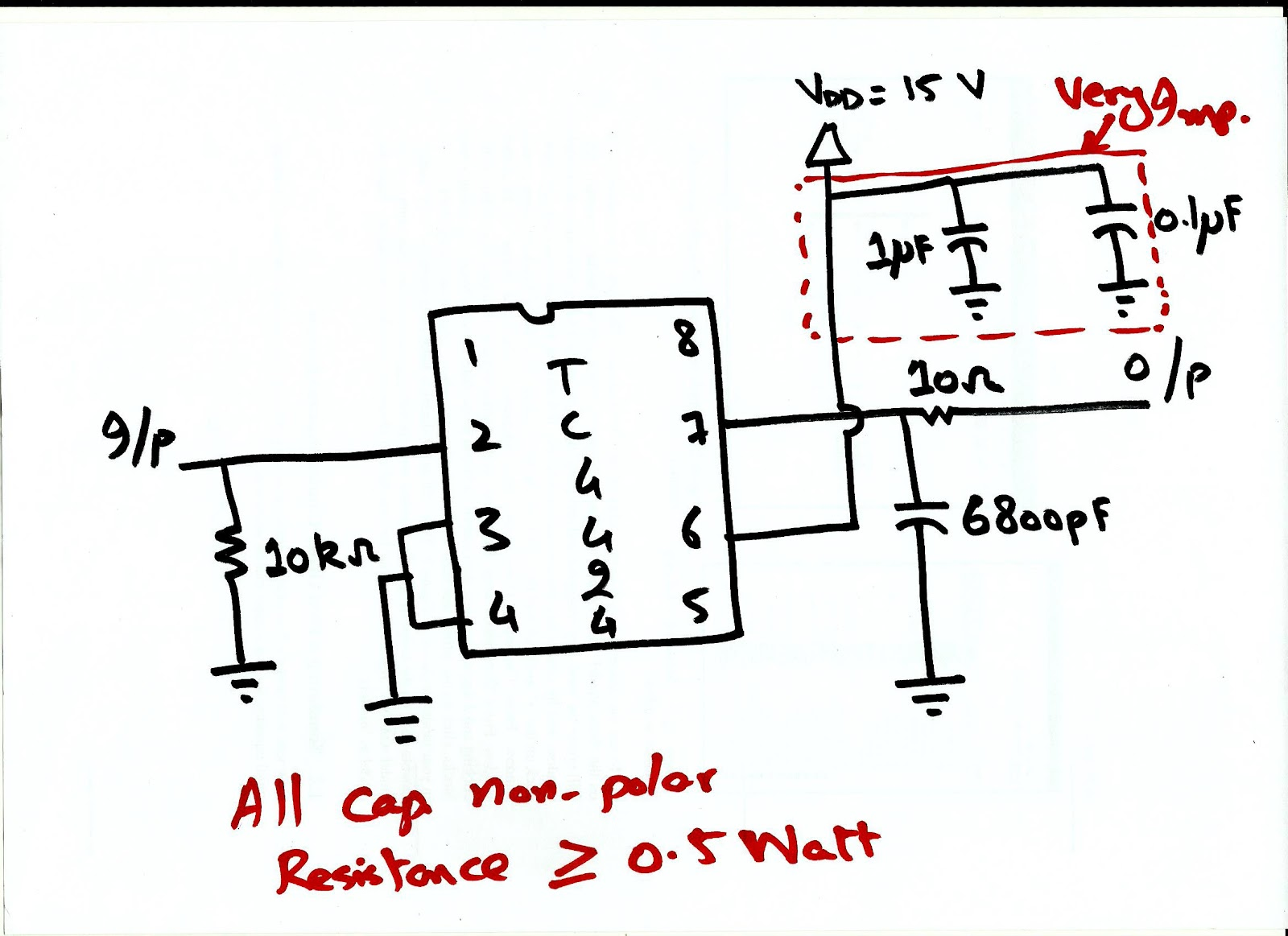 Experimental Work Circuit For Tc4424 Gate Driver Ic Pv