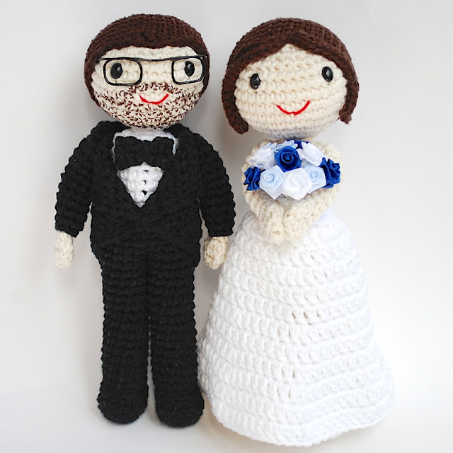 amigurumi wedding dolls