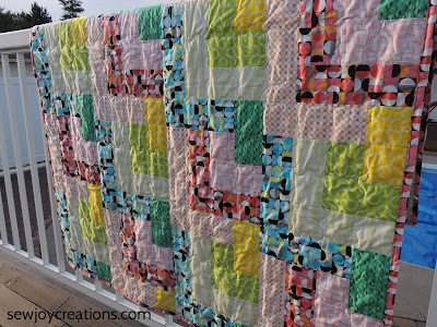 Dropping In quilt serpetine quilting