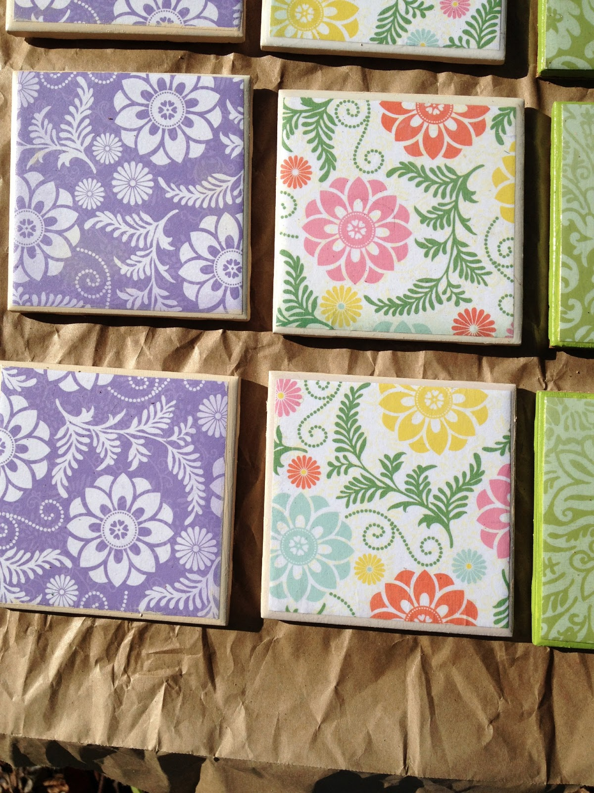 Sarahracha Decoupage Tile Coasters