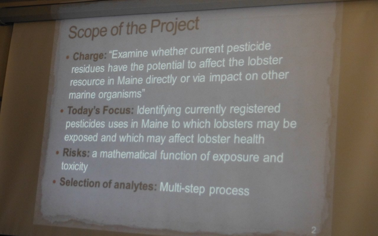 Friends of Penobscot Bay: Pesticides & Maine Lobsters  State's Dec