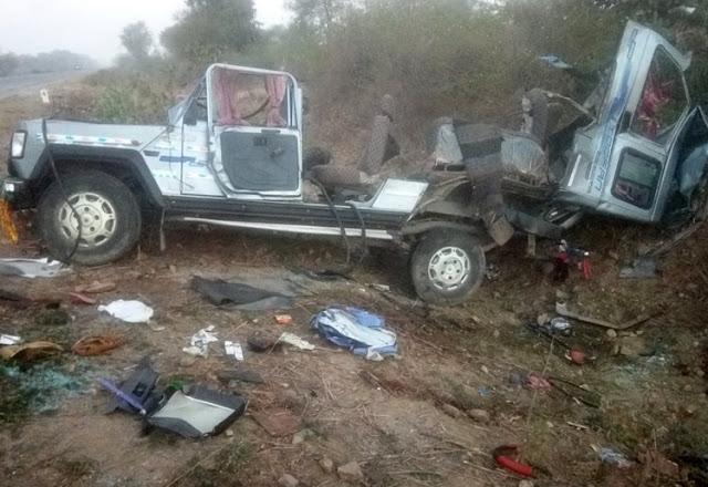 राजमार्ग में हुआ भीषण सड़क हादसा, एक ही परिवार के 7 लोगों की मौत