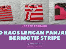 Update Terbaru 30 Kaos Lengan Panjang Bermotif Stripe