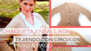 Patrones y Paso a Paso de Chaqueta Entallada a Crochet ♥