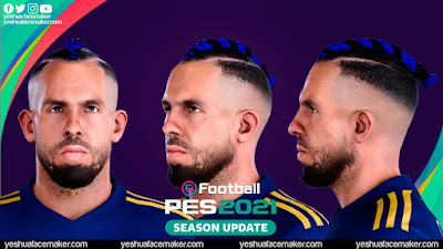 PES 2021 Faces Calros Tevez (Blue Hair) by Yeshua
