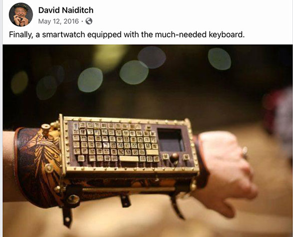 Finally, a smart watch with a keyboard (too big to use) Source: D. Naiditch)