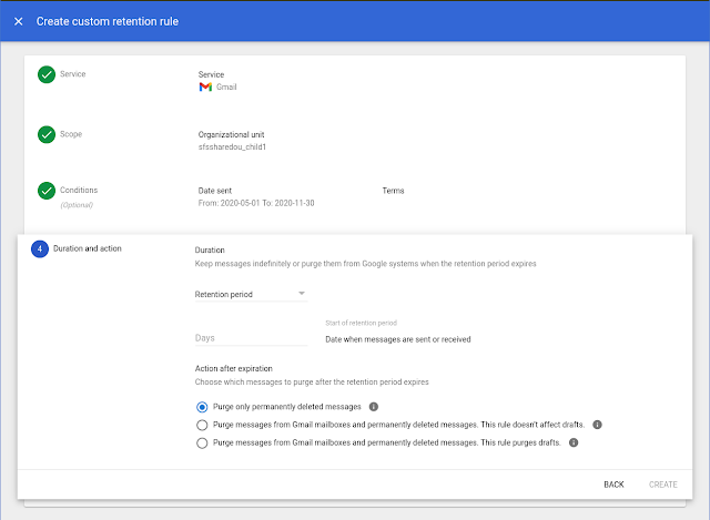 New interface for Google Vault 4