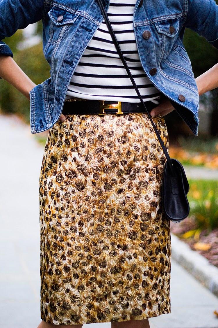 Cheetah Brocade (+ Closet Cleanout Challenge)