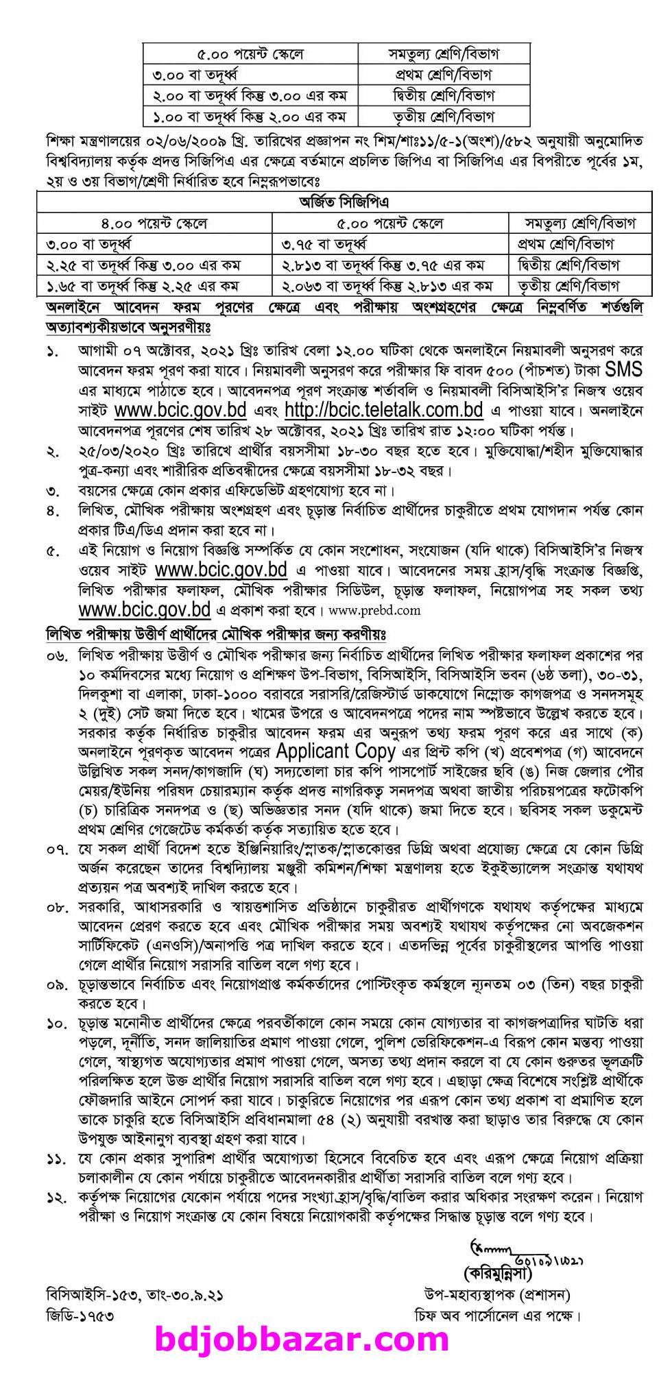 Ministry of Industries Job Circular 2021-01
