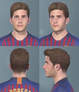 PES 2019 Faces Sergi Roberto by Messi Pradeep