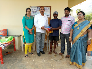 New clothes distribution to the people of Gullepalli