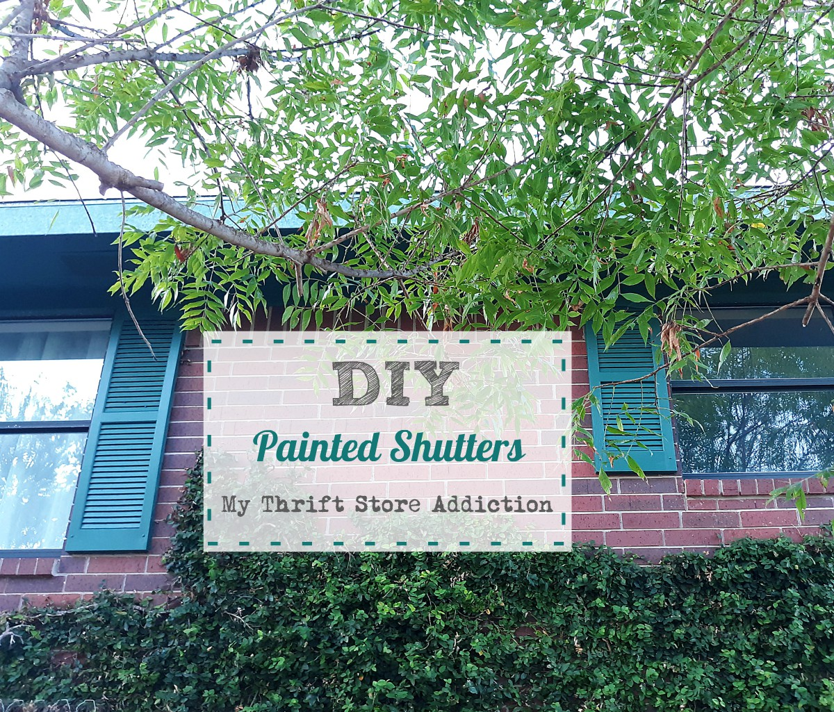 DIY painted shutters