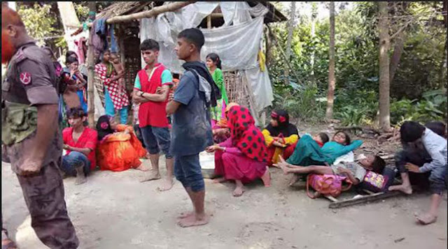 Human-chain-in-Natore-to-return-Rohingya-to-their-own-country