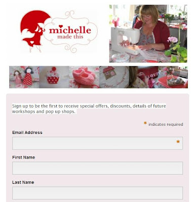 michellemadethis newsletter sign up form