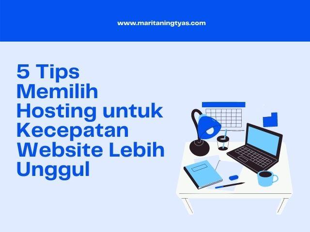 memilih hosting untuk kecepatan website