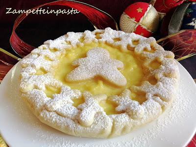 Crostata natalizia con crema all'arancia