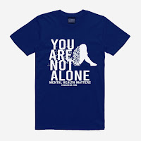 GOMAGEAR You Are Not - Mental Health Matters Unisex Tee - Dark Blue