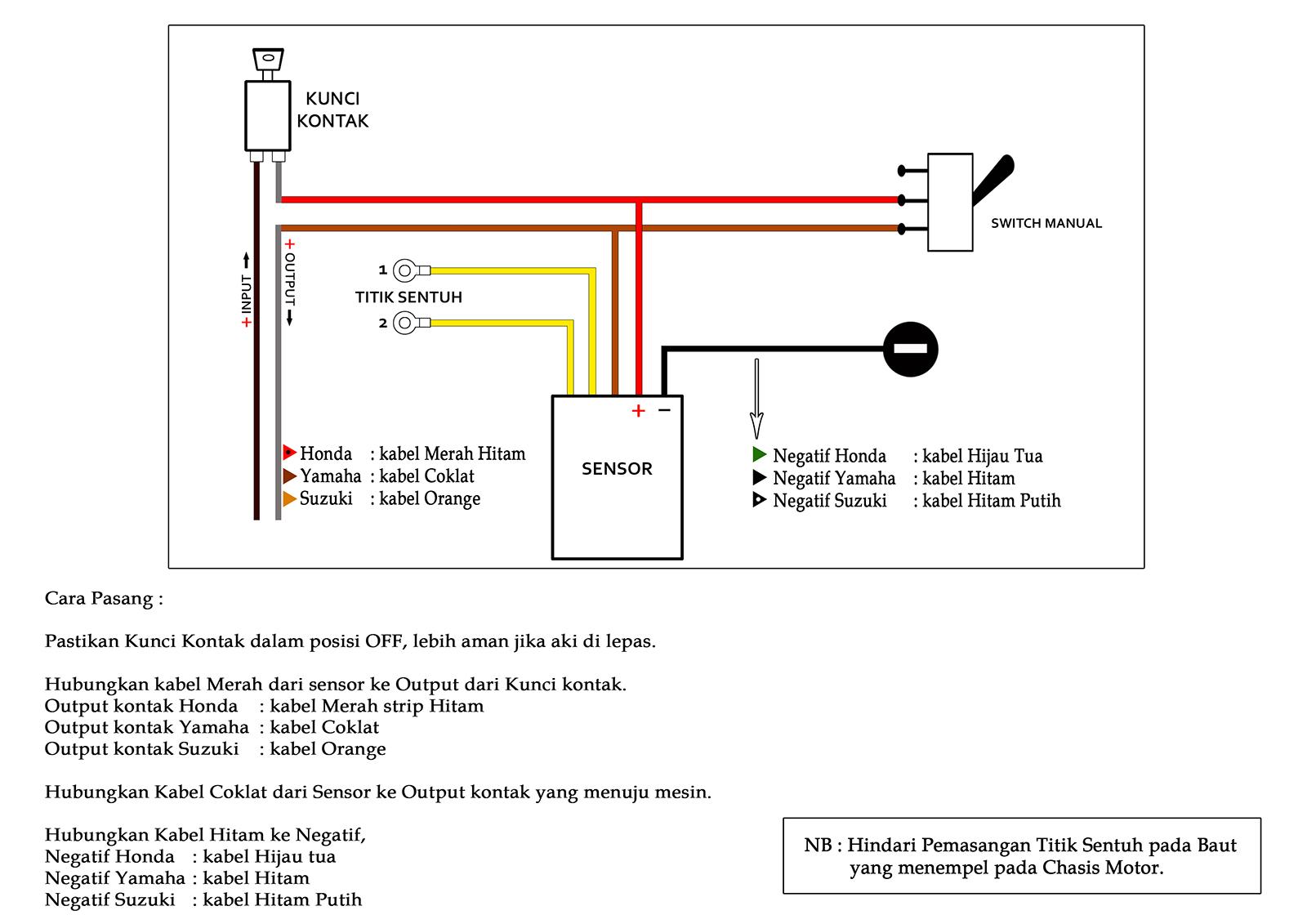 Outbox project membuat pengaman motor sederhana dengan sensor diagram pemasangan kira kira seperti ini gan asfbconference2016 Choice Image