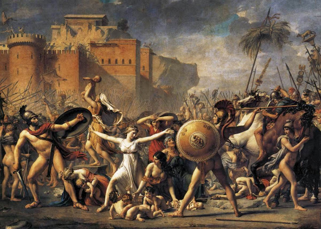 Jacques-Louis David – The Intervention of the Sabine Women [1799]