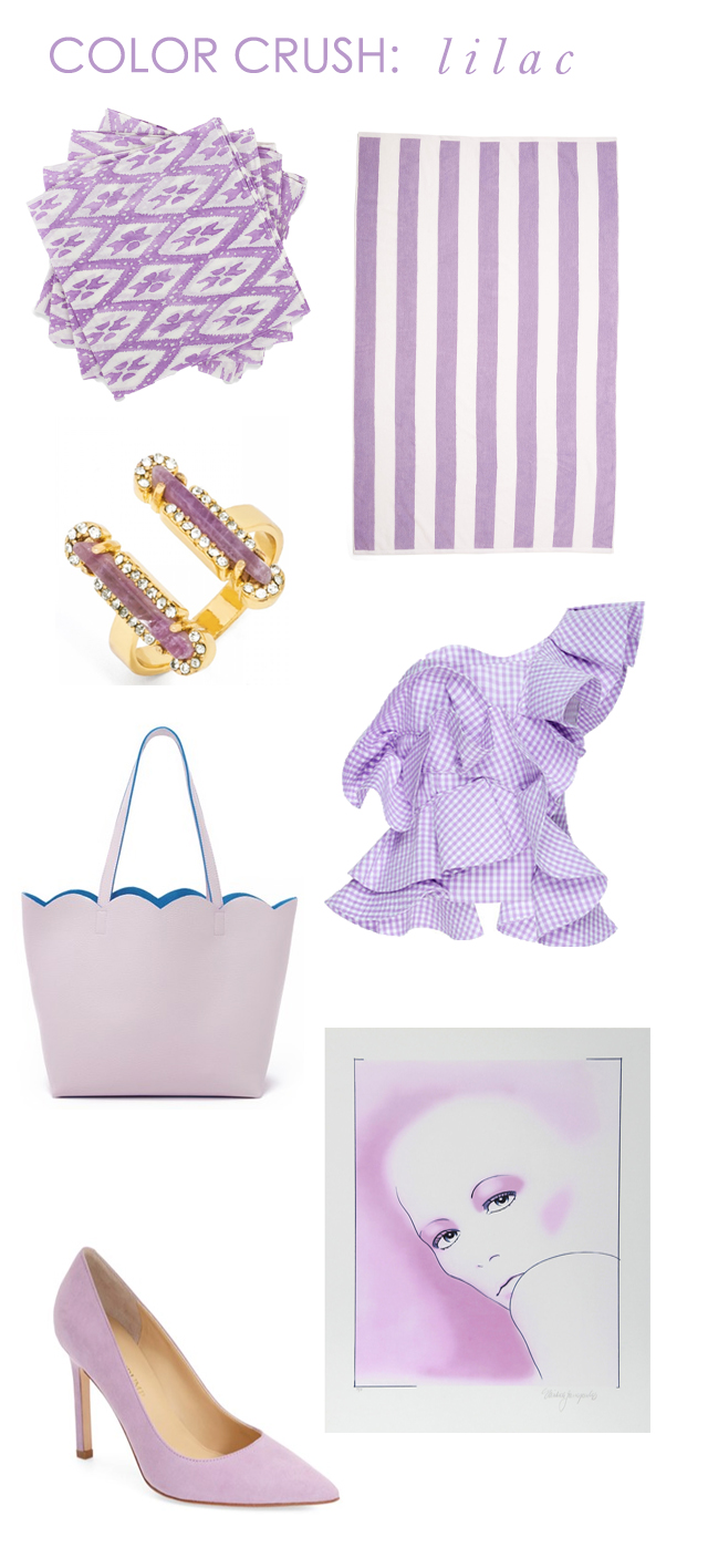 the peak of très chic color crush lilac