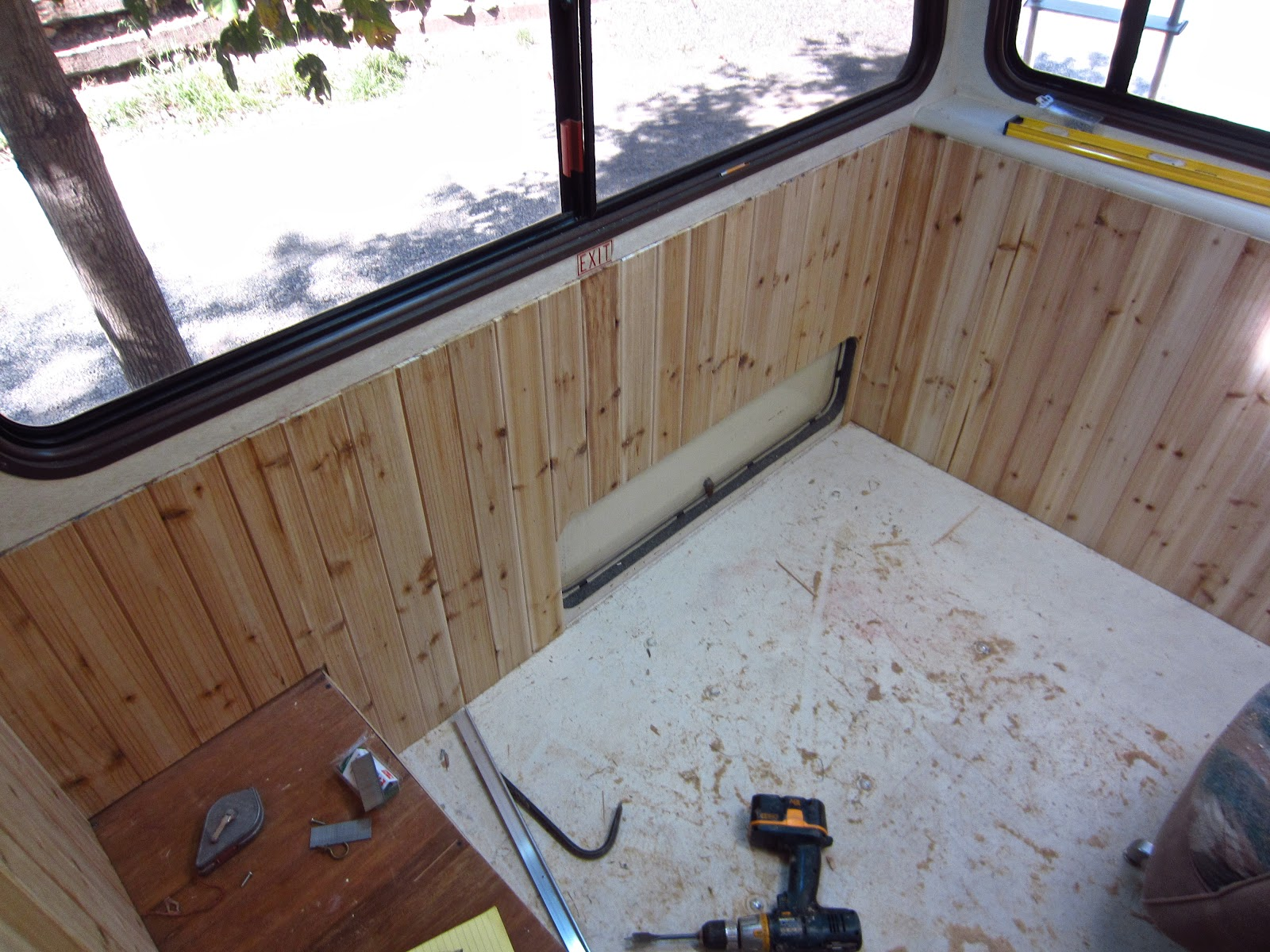 Box Canyon Blog  com: A Lazy Daze RV Remodel Update    Torn