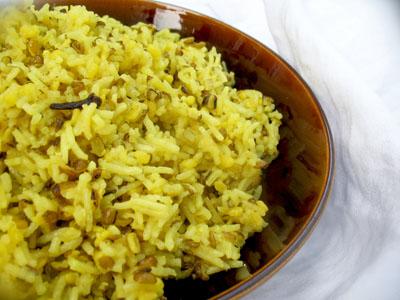 mung bean yellow rice