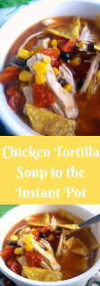 Chicken Tortilla Soup in the Instant Pot:  Bursting with Latin flavors, this healthy soup is one that you won't feel guilty about eating seconds!  - Slice of Southern