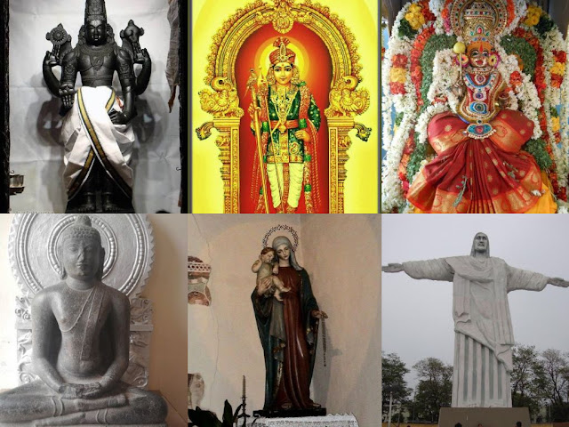 Tamil - Indian Gods which only wearing cloth dresses even the statue contains dress