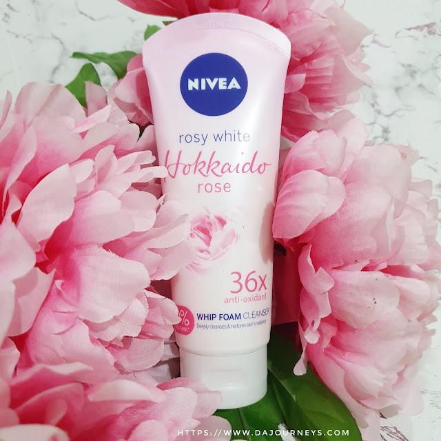 Review Nivea Hokkaido Rose Whip Facial Foam