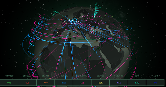 Live Threat Map, DDOS Map