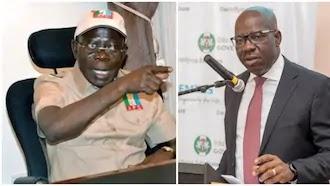 """Edo election: Oshiomhole scolds Obaseki after """"violence"""" remark"""