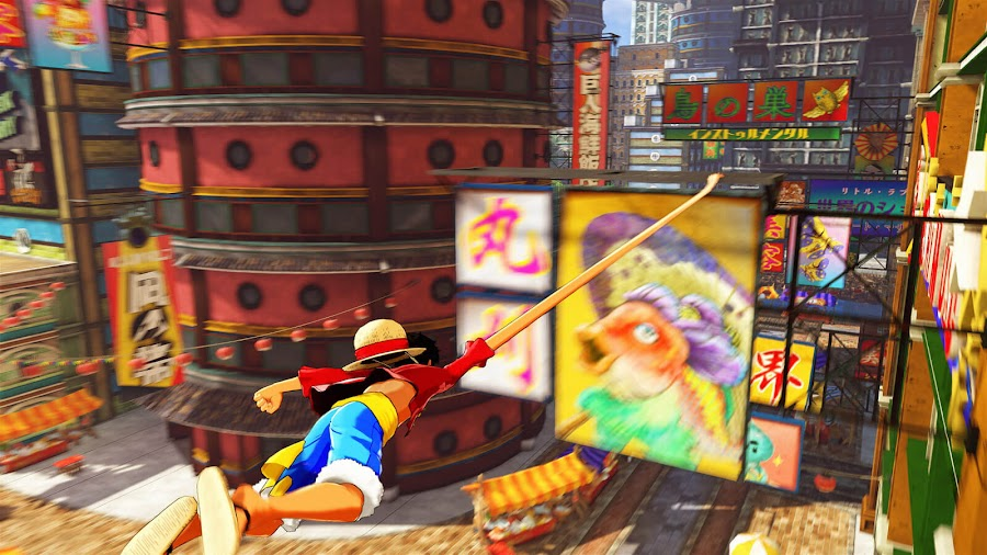 one piece world seeker traversal gameplay monkey d luffy