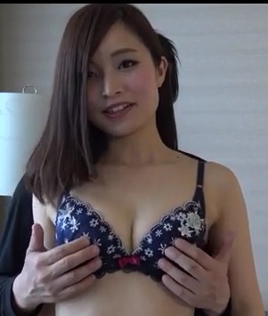 amateur asian girl giving a blowjob in lingerie
