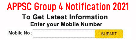 APPSC Group 4 Notification 2021