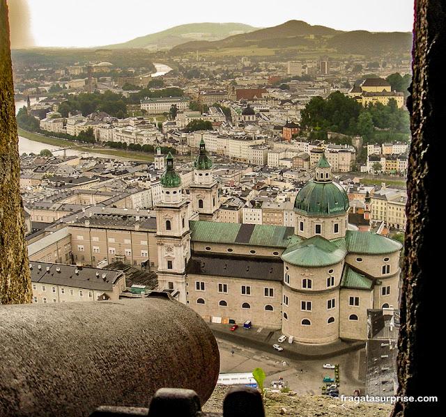 Salzburgo vista do Hohensalzburg, o castelo