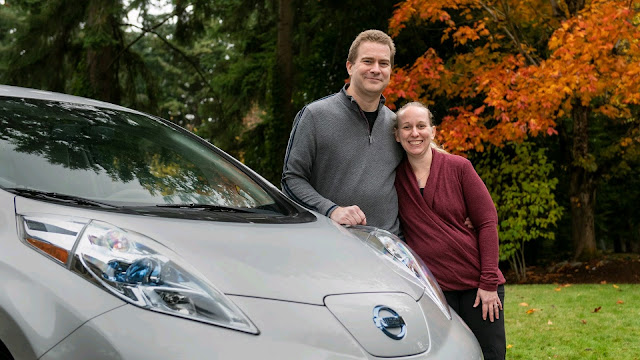 Monroe family Nissan Leaf