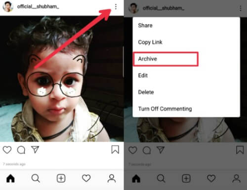 How to ARCHIVE & UNARCHIVE Instagram Post, Story.