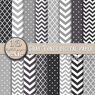 gray chevron free paper pack